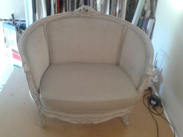Upholstered in velvet